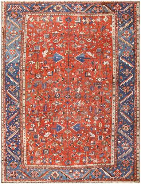 Antique Persian Heriz Serapi Rug, Nazmiyal