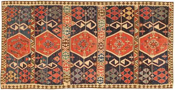 Antique Persian Kilim Rug, Nazmiyal
