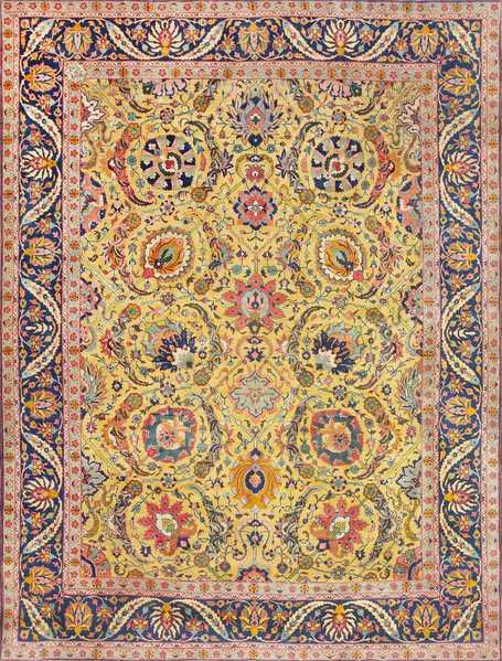 Antique Persian Sickle Leaf Tabriz Rug, Nazmiyal