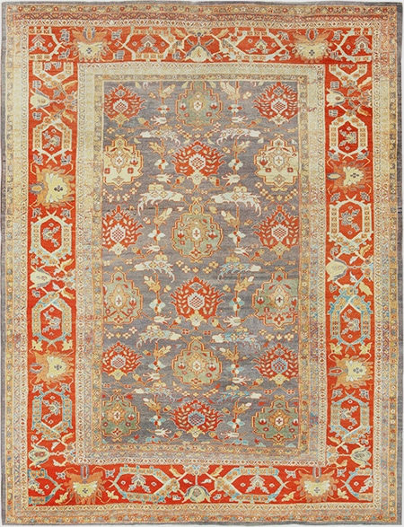 Antique Persian Sultanabad Dining Room Rug by Nazmiyal