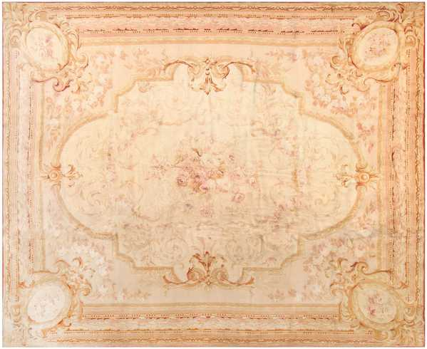 Large Decorative Antique French Savonnerie Rug, Nazmiyal