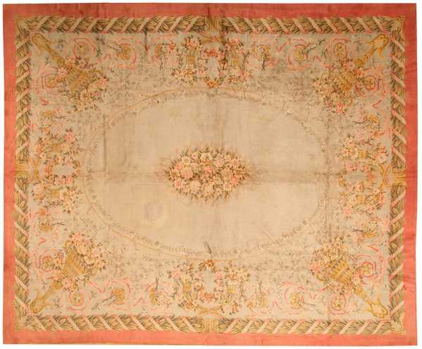 Antique Savonnerie Spanish Carpet, Nazmiyal