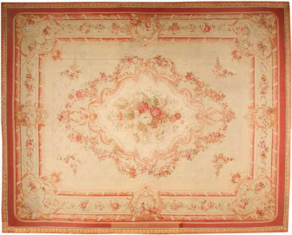 Aubusson Antique Rug, French, Nazmiyal