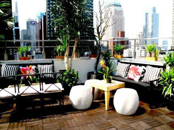 Dream Hotel Rooftop Bar in NYC Nazmiyal