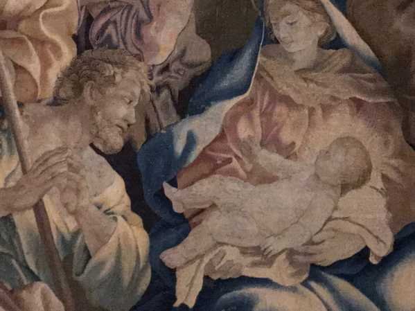Barberini Tapestries: Detail of The Birth of Christ