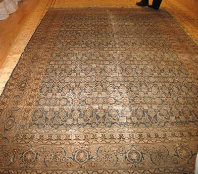 Before Oriental Rug Repair by Nazmiyal