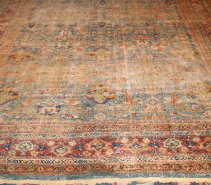 Before Persian Rug Repair by Nazmiyal