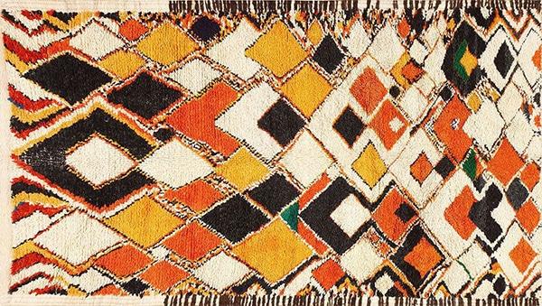 Colorful Berber Carpet by Nazmiyal