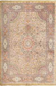 fine shahsavarpour vintage silk and metallic thread persian tabriz rug 51000 Nazmiyal