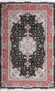 fine vintage silk and wool by honarmand tabriz persian rug 51004 Nazmiyal