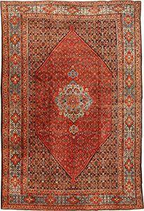 Fish Design Antique Persian Bidjar Rug 42158 by Nazmiyal
