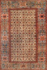 Herati / Fish Design Sultanabad Rug 44146 by Nazmiyal
