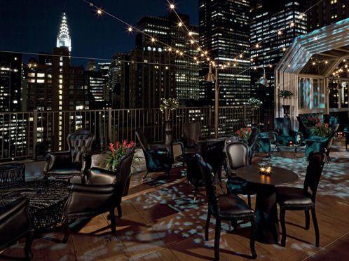Upstairs At The NYC Kimberly Hotel Rooftop Bar by Nazmiyal