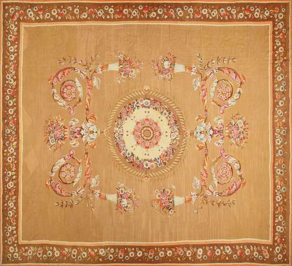 Large French Aubusson Antique Rug, Nazmiyal