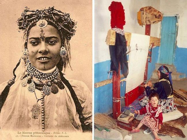 Moroccan Berber Women Rug Weaver by Nazmiyal