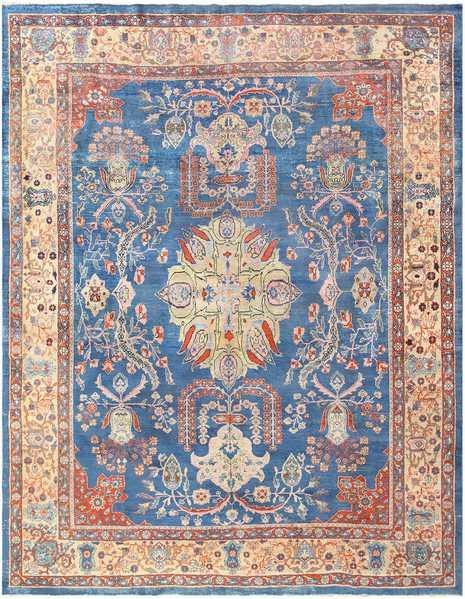 Blue Antique Persian Sultanabad Rug, Nazmiyal