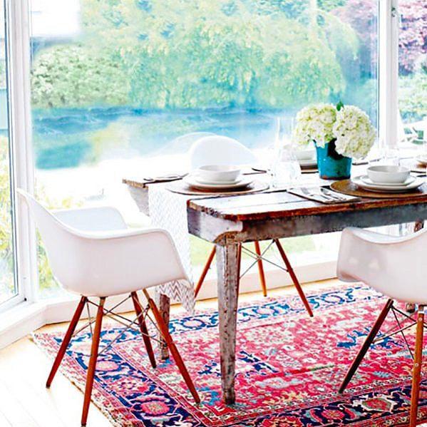 Persian Heriz Dining room Rugs by Nazmiyal