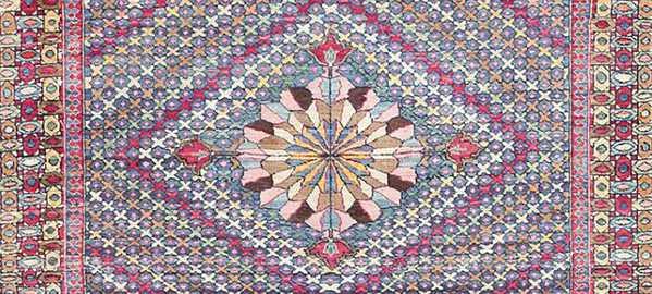 Persian Purple Oriental Rug by Nazmiyal