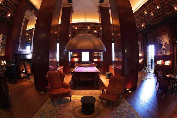 The Hudson Hotel Library Bar in NYC by Nazmiyal