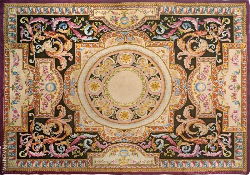 Antique Spanish Savonnerie Carpet Nazmiyal
