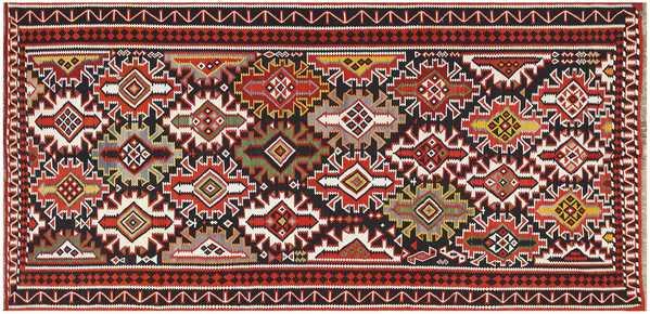 Vintage Caucasian Kilim Rug, Nazmiyal