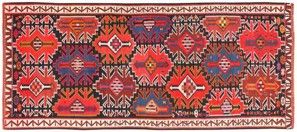 Antique Tribal Caucasian Kuba Kilim Rug, Nazmiyal