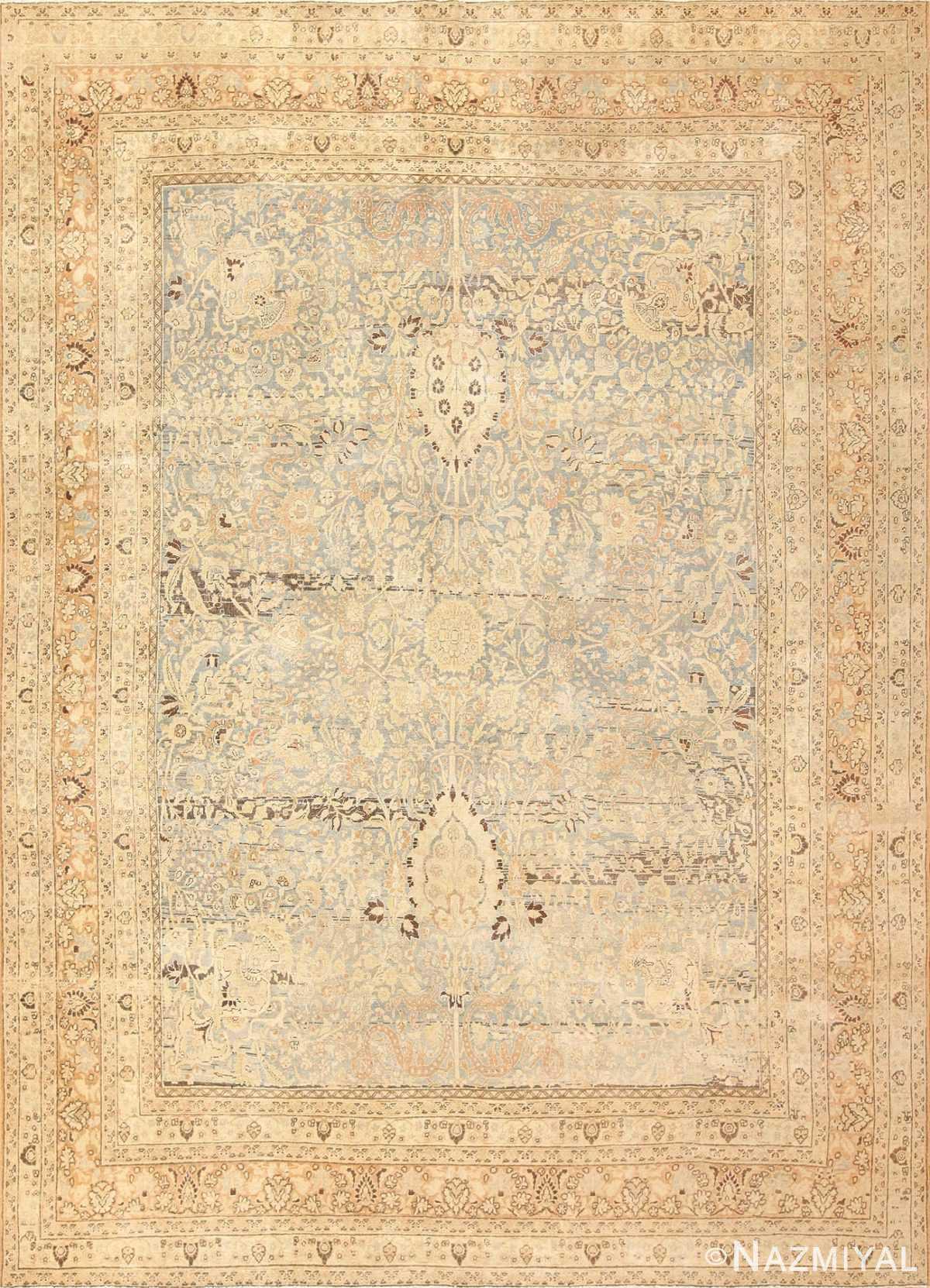 antique floral persian khorassan rug 49210 Nazmiyal