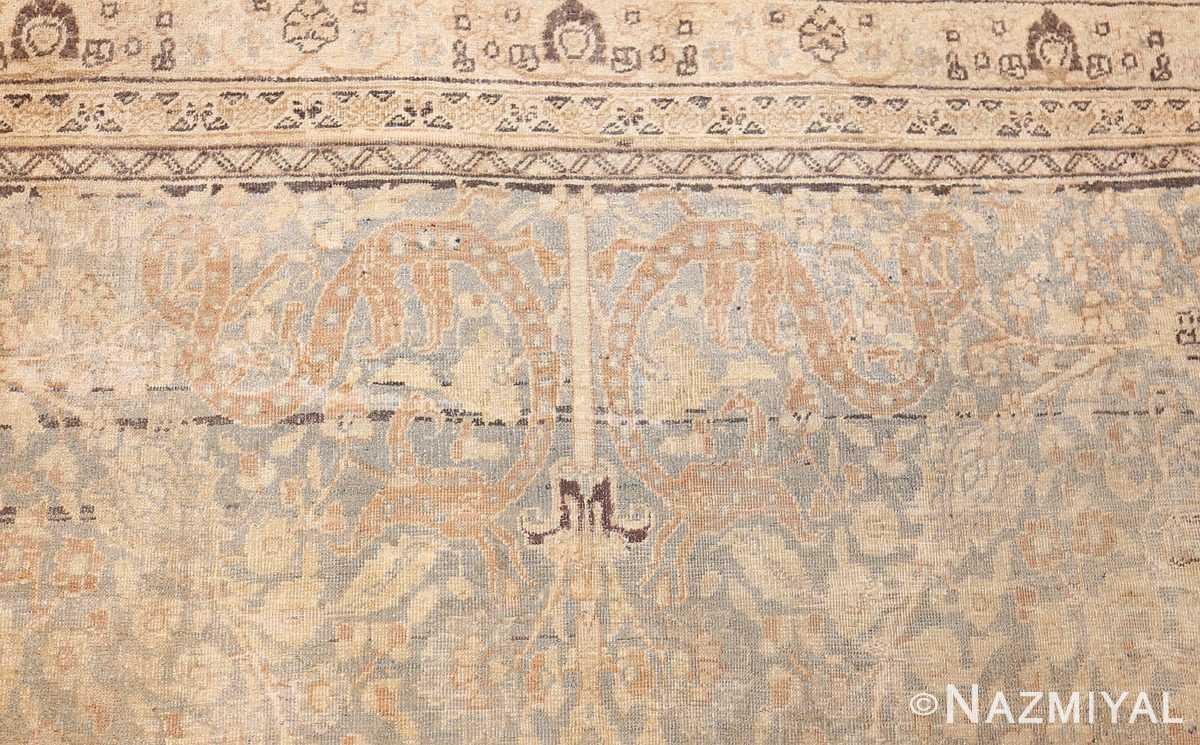 antique floral persian khorassan rug 49210 detail Nazmiyal