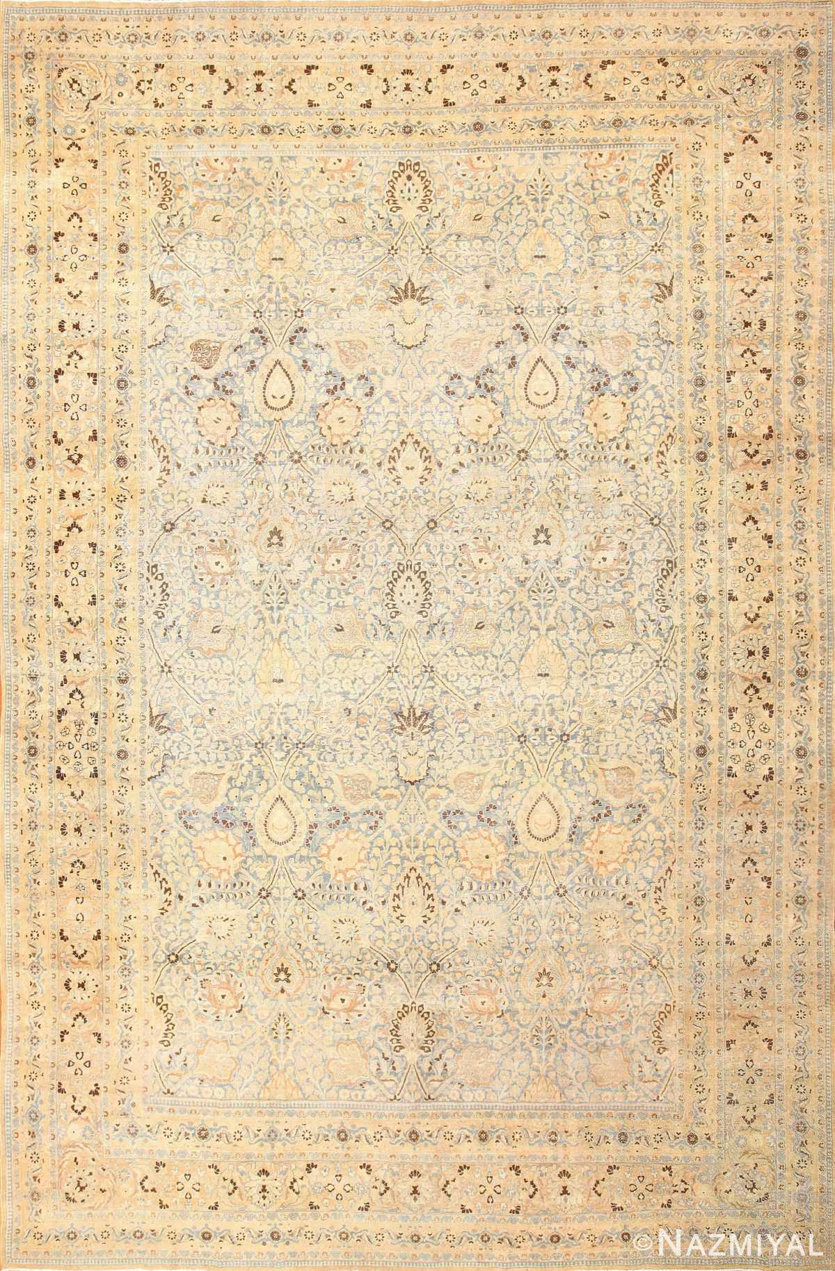 antique floral persian khorassan rug 50128 Nazmiyal