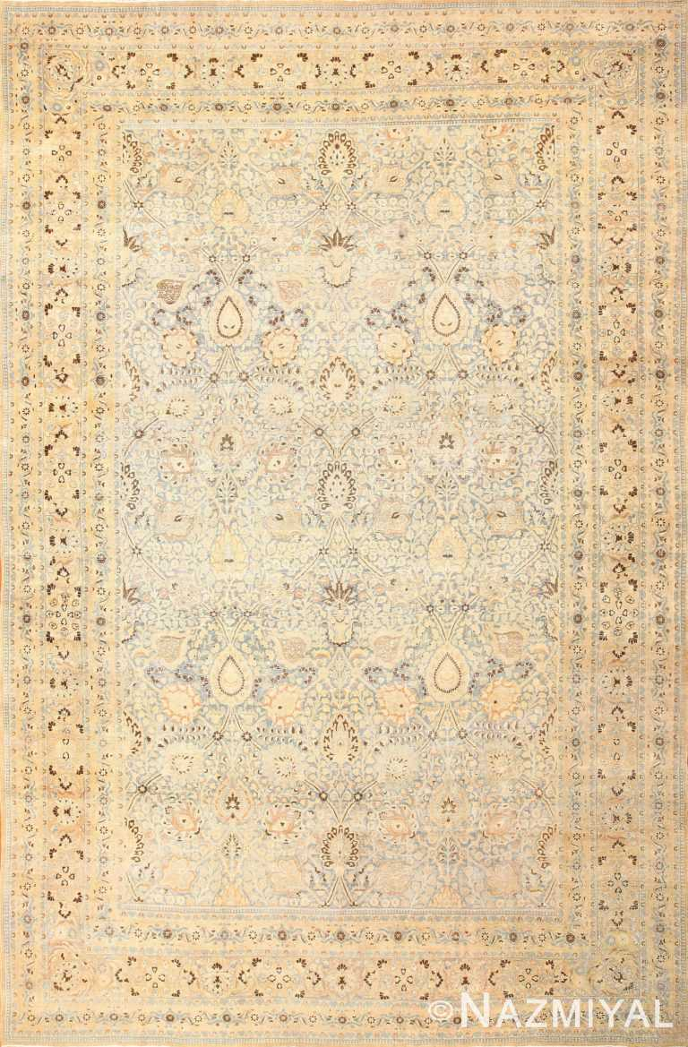 antique floral persian khorassan rug 50128 Nazmiyal
