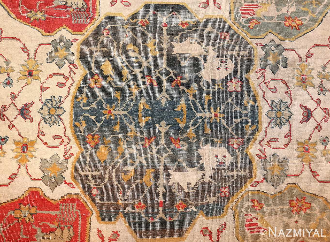 antique ivory room size indian agra rug 49176 design Nazmiyal