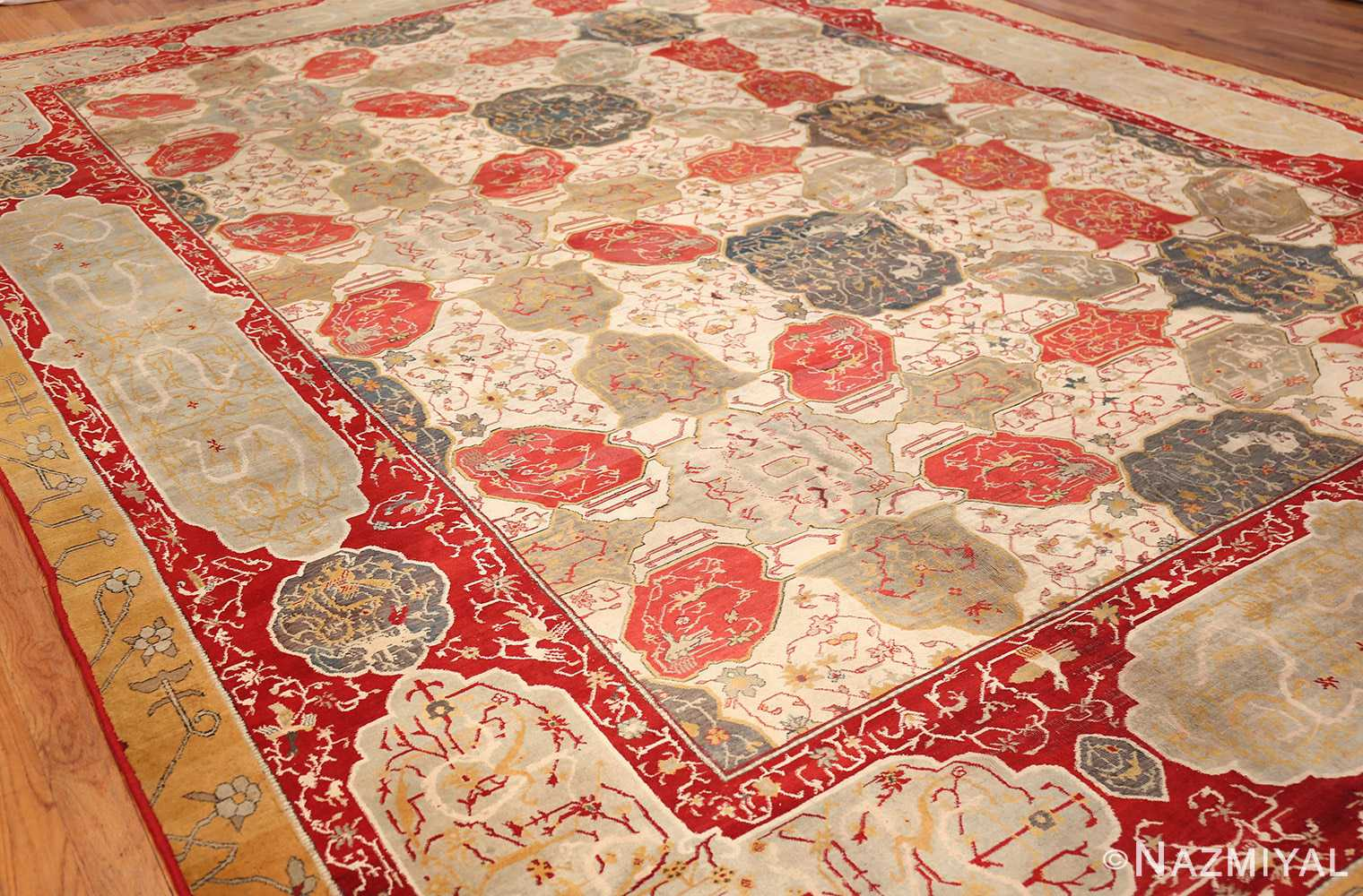 antique ivory room size indian agra rug 49176 whole 2 Nazmiyal