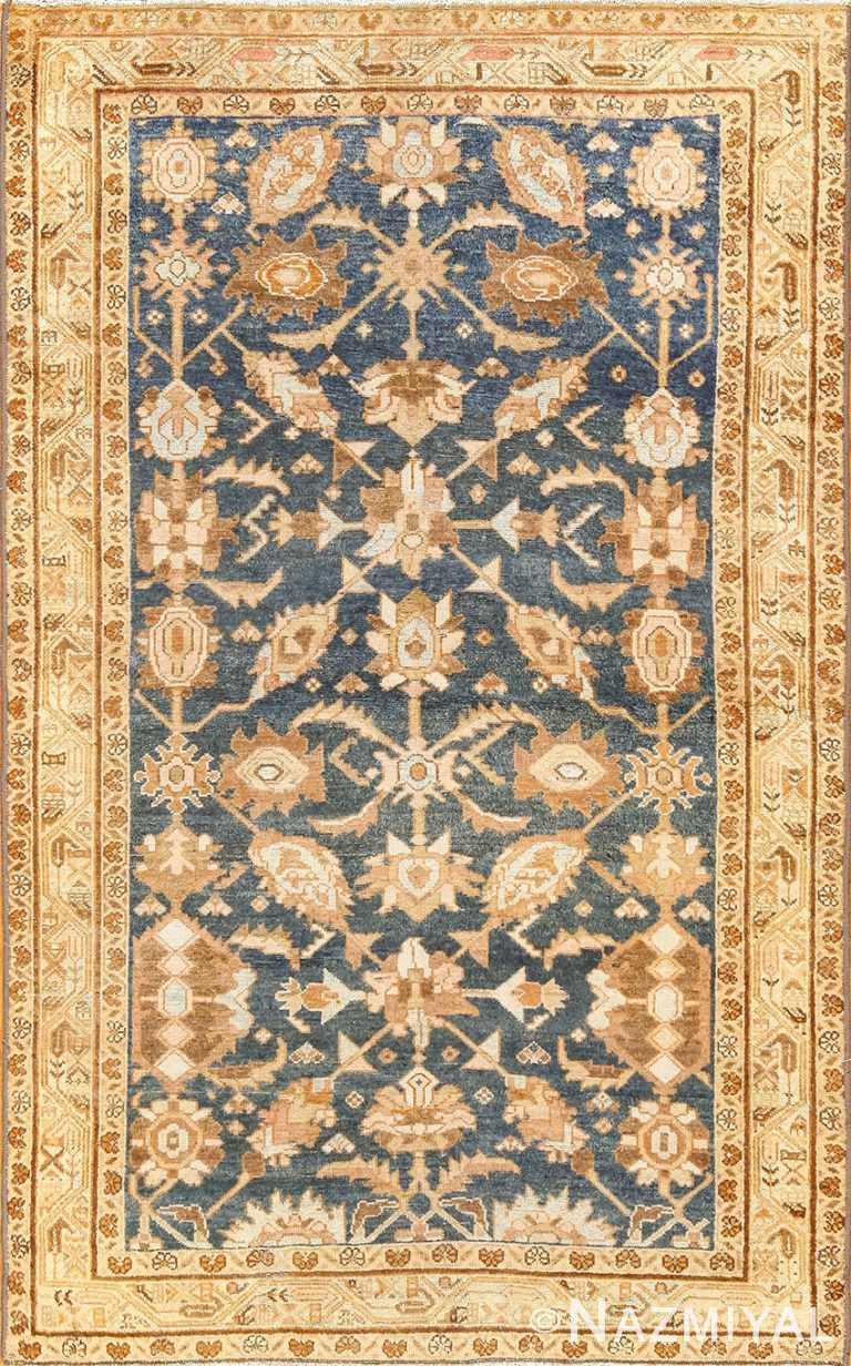 antique navy background persian malayer rug 49221 Nazmiyal