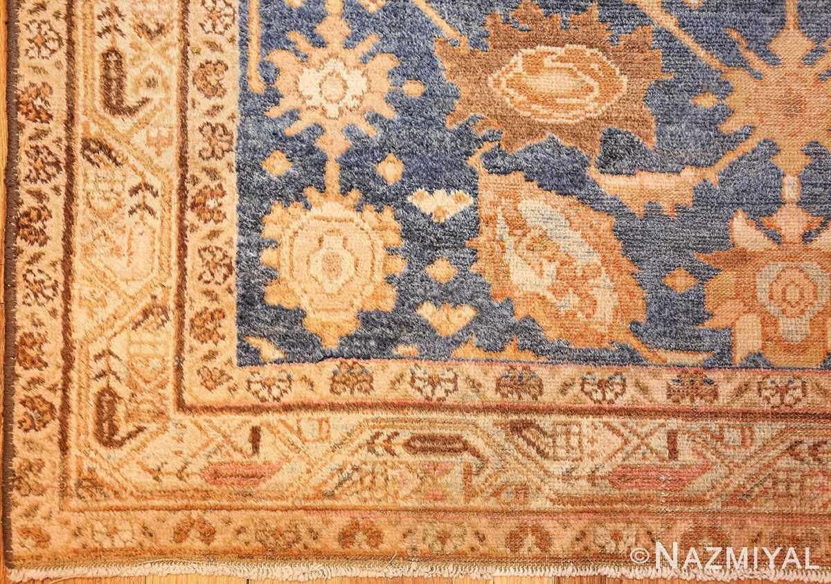 antique navy background persian malayer rug 49221 corner Nazmiyal