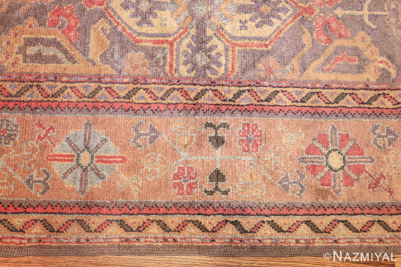 antique turkish oushak rug 49220 border Nazmiyal