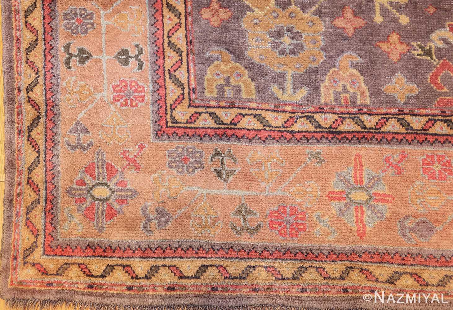 antique turkish oushak rug 49220 corner Nazmiyal