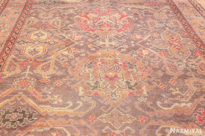 antique turkish oushak rug 49220 field Nazmiyal