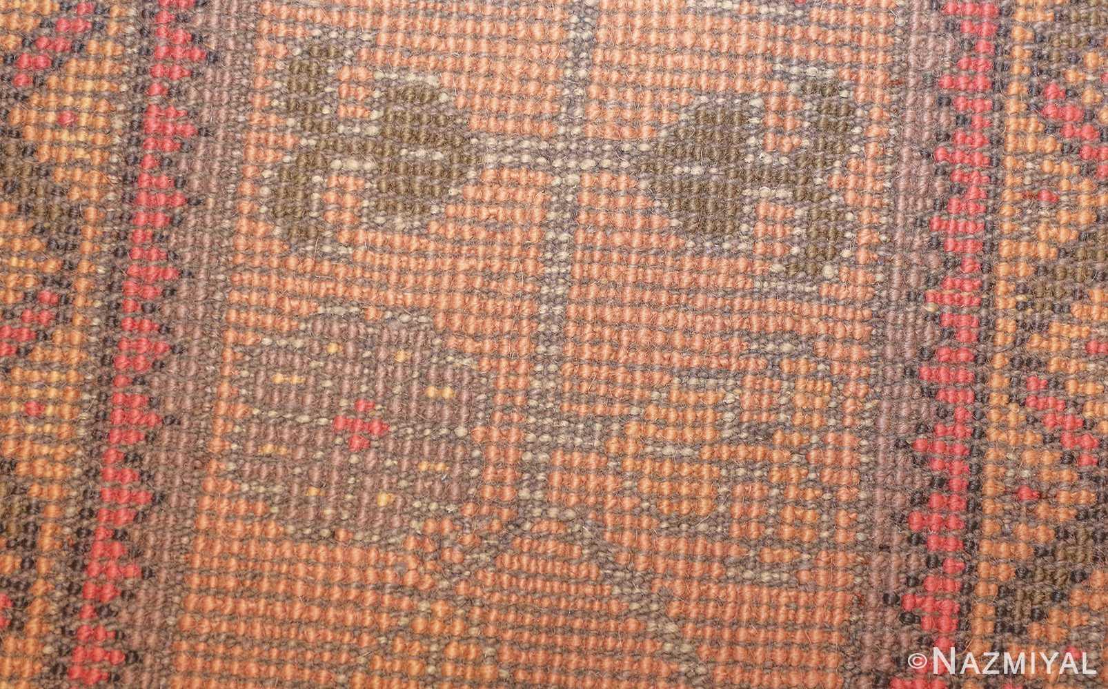 antique turkish oushak rug 49220 weave Nazmiyal