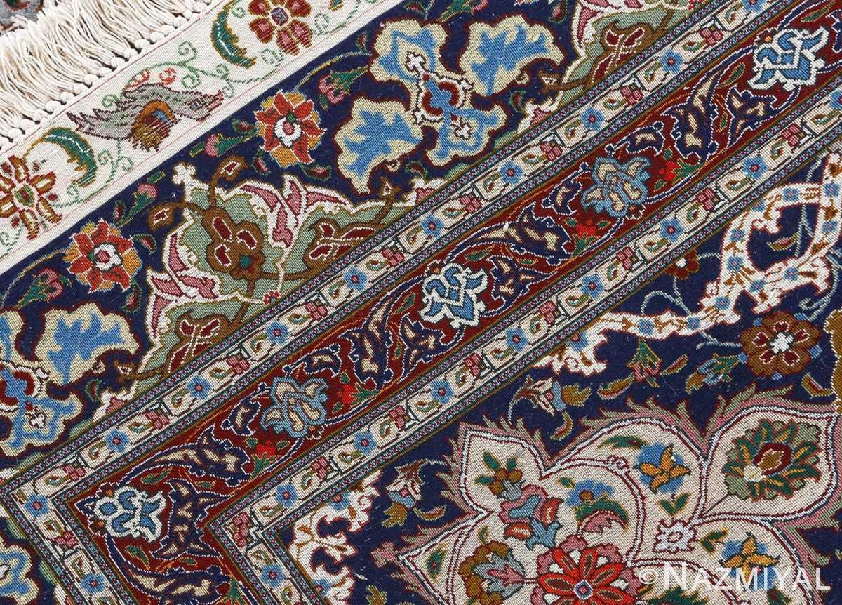 fine ghonbad kork and silk tabriz persian rug 51001 nazmiyal weave