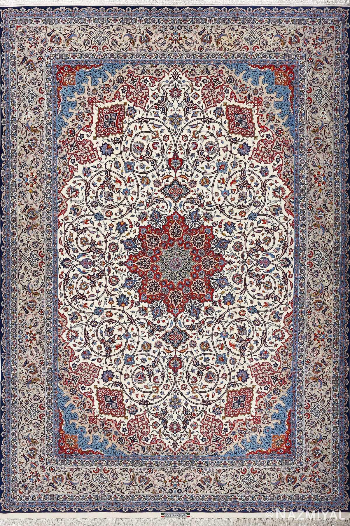 fine hekmatenejad vintage isfahan persian rug 51019 Nazmiyal