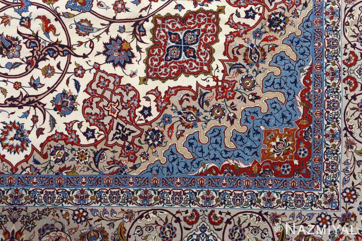 fine hekmatenejad vintage isfahan persian rug 51019 design Nazmiyal
