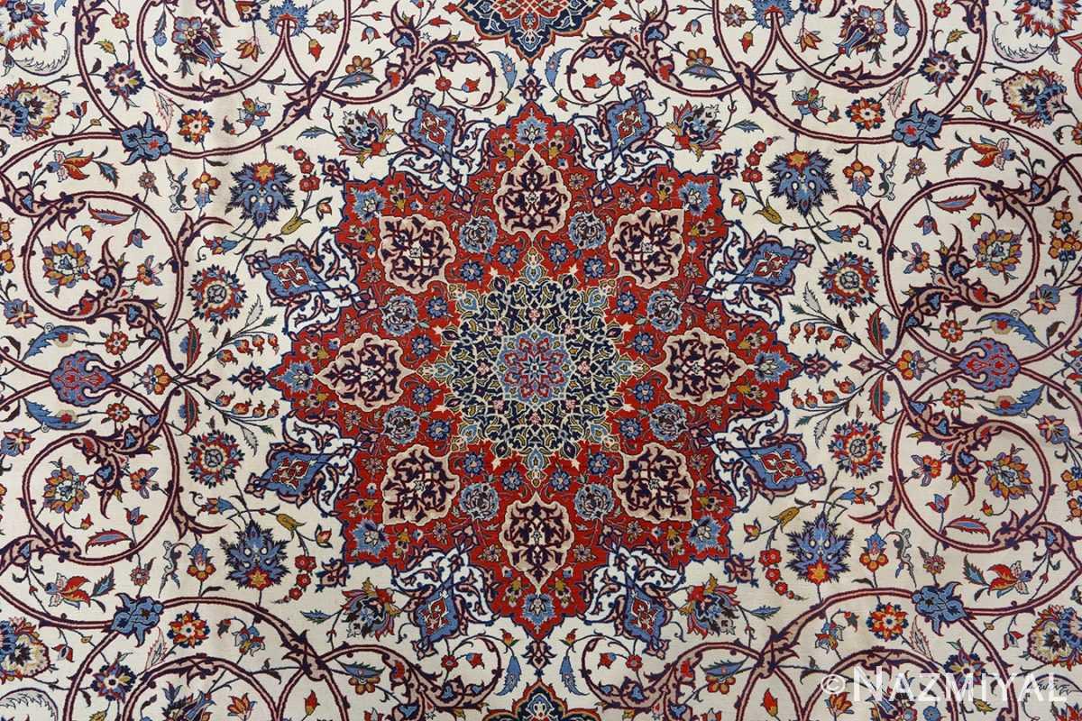 fine hekmatenejad vintage isfahan persian rug 51019 medallion Nazmiyal