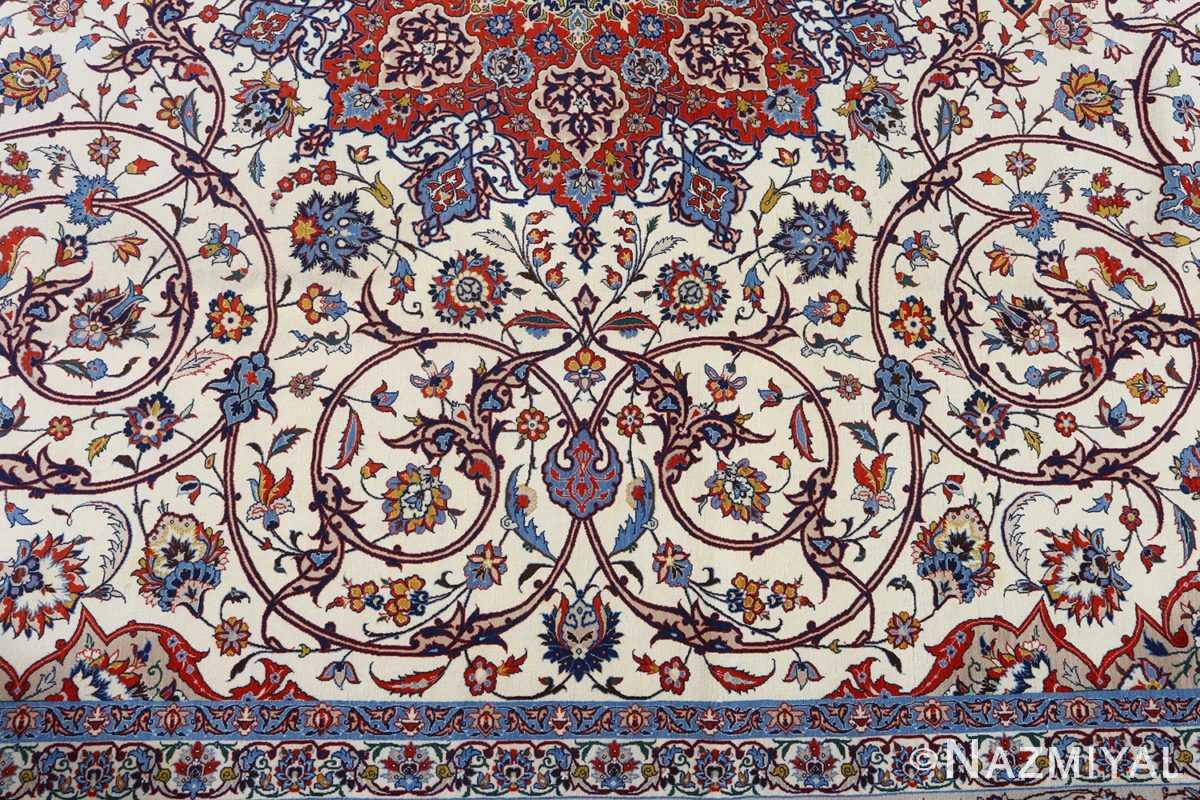 fine hekmatenejad vintage isfahan persian rug 51019 peony Nazmiyal
