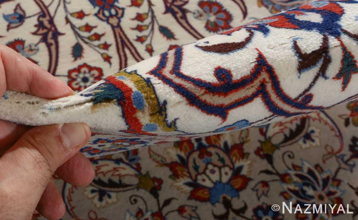 fine hekmatenejad vintage isfahan persian rug 51019 pile Nazmiyal
