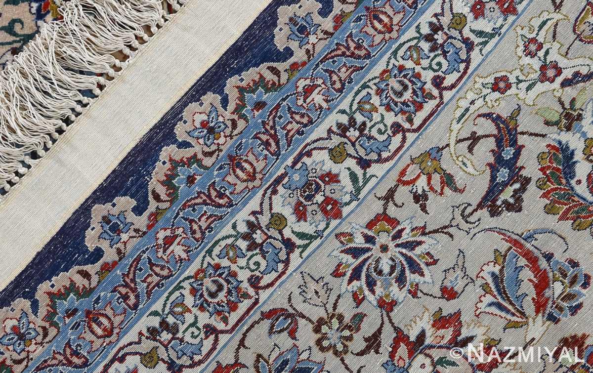 fine hekmatenejad vintage isfahan persian rug 51019 weave Nazmiyal
