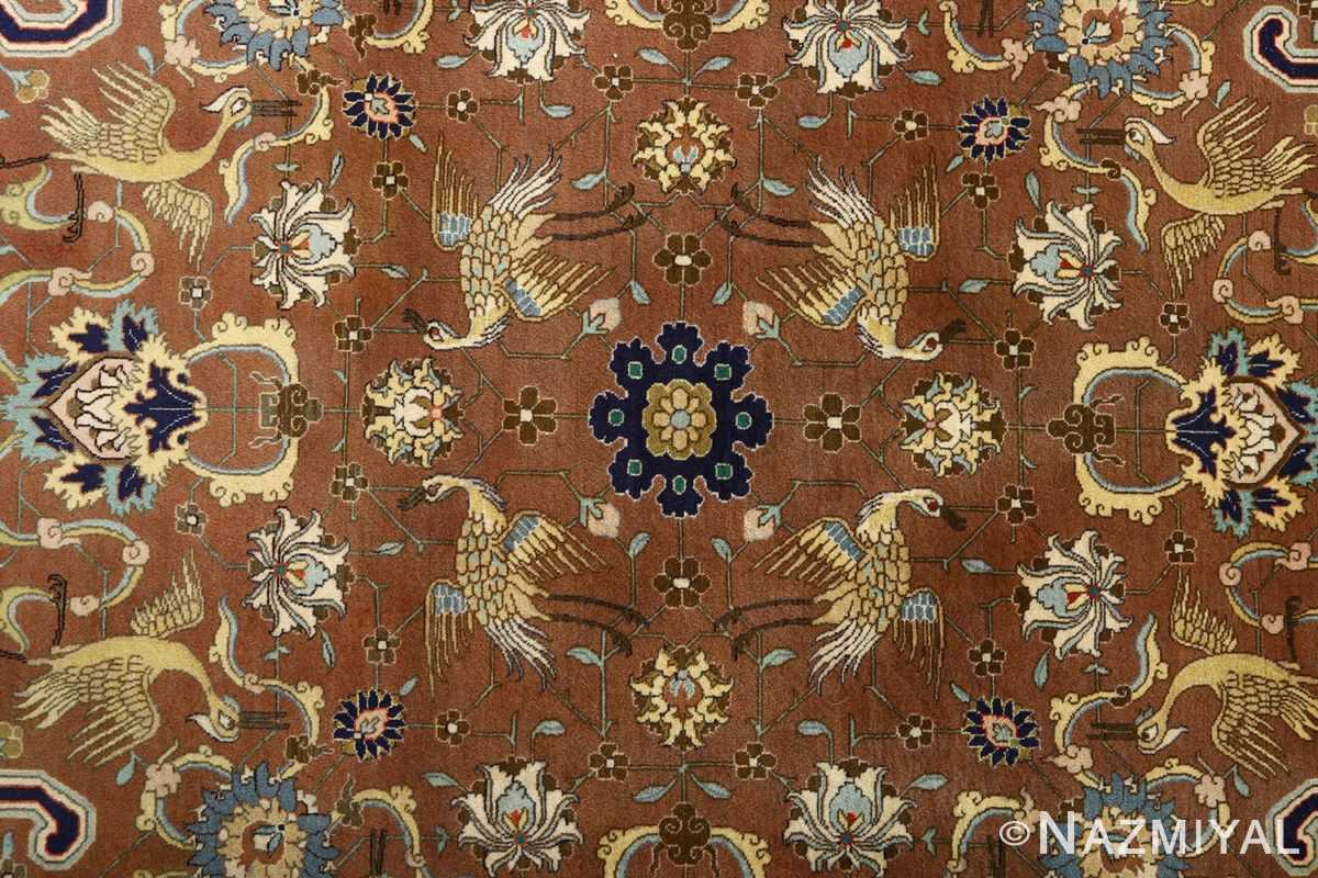 fine heydarzadeh hunting vintage tabriz persian rug 51026 nazmiyal birds
