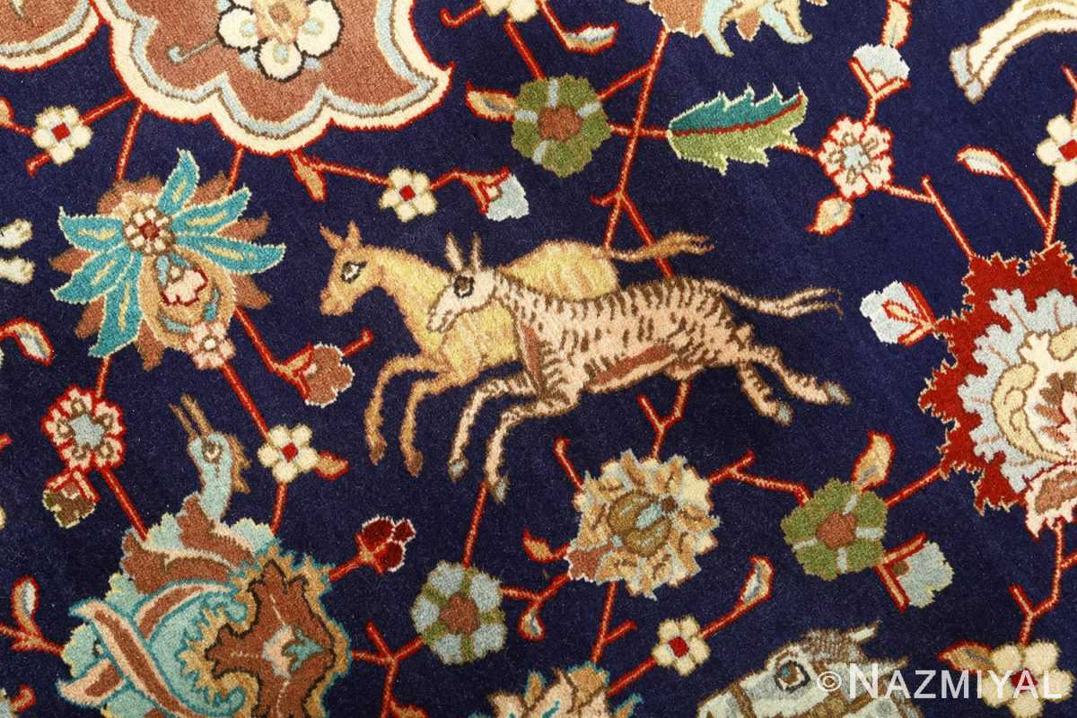 fine heydarzadeh hunting vintage tabriz persian rug 51026 nazmiyal gazals