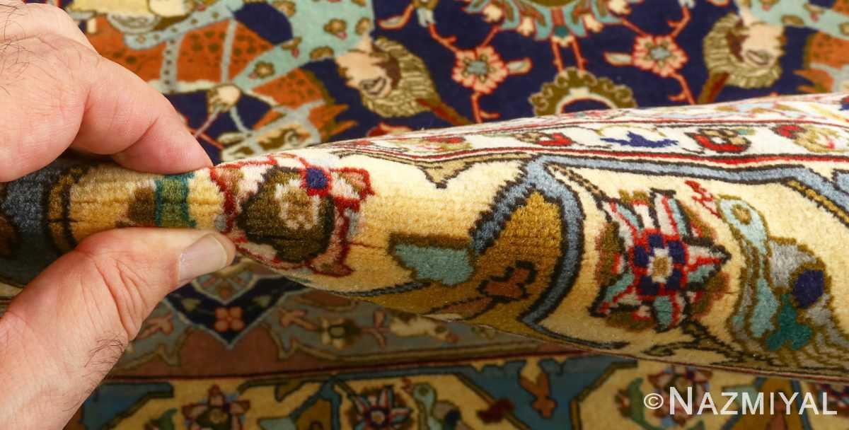 fine heydarzadeh hunting vintage tabriz persian rug 51026 nazmiyal pile