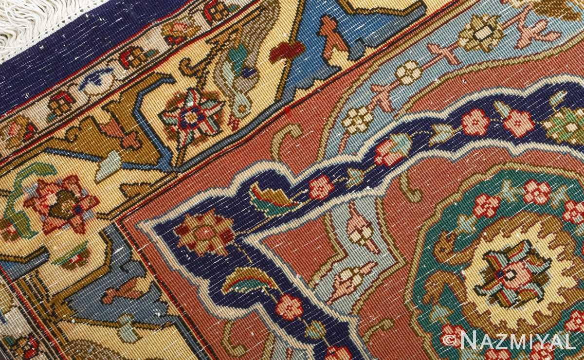 fine heydarzadeh hunting vintage tabriz persian rug 51026 nazmiyal weave