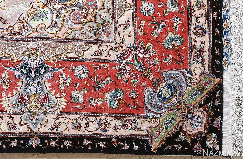 fine honarmand silk and wool tabriz persian rug 51004 nazmiyal corner